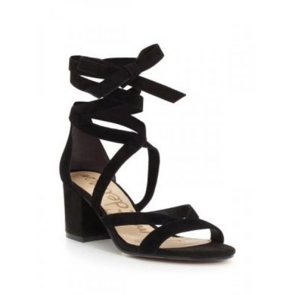 cf1fbb7acc2b Sam Edelman Sheri ankle wrap block heels. M 5b6f34b08ad2f945885569f0